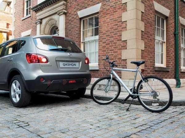 NISSAN Einparkhilfe, hinten, schwarz Nissan Qashqai J10