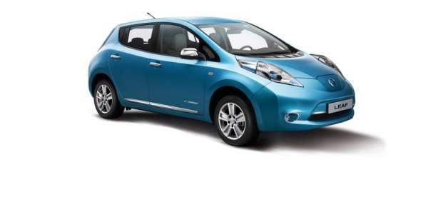 Seitenleisten in Chromoptik Nissan Leaf ZE0