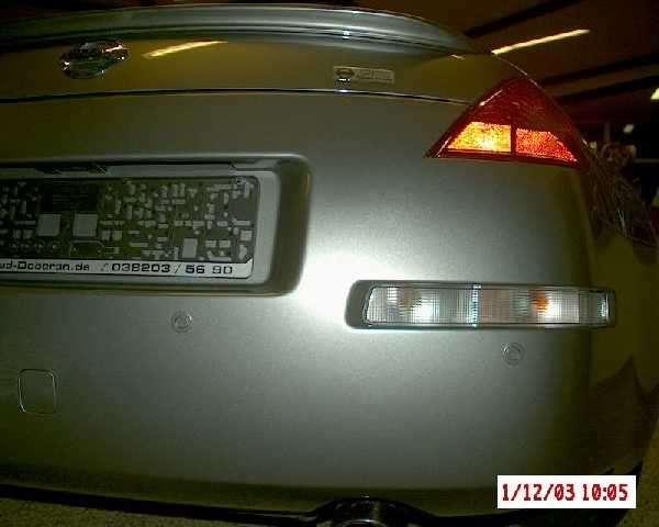 NISSAN Einparkhilfe, hinten, schwarz Nissan 370 Z Z34
