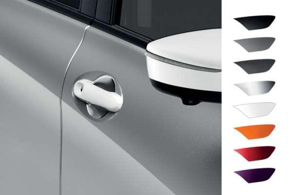 Türgriffabdeckungen, für I-Key, Glossy White Nissan Juke F15 2014/05-
