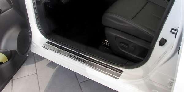 Einstiegsleistenset 4-tlg. Edelstahl Nissan Qashqai