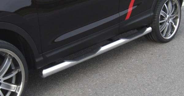Schwellerrohr Edelstahl mit Tritt Nissan Qashqai J11