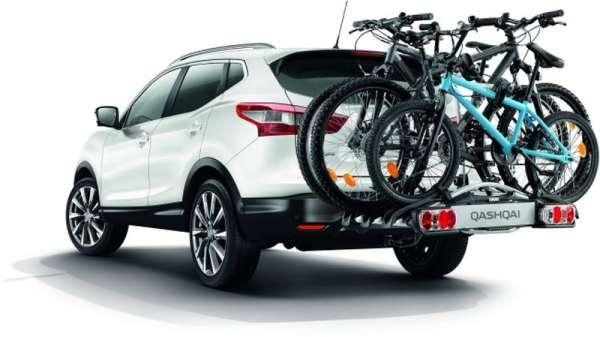 Fahrrad-Heckträger für 3 Räder, mit 7pol. E-Satz Nissan Juke F15
