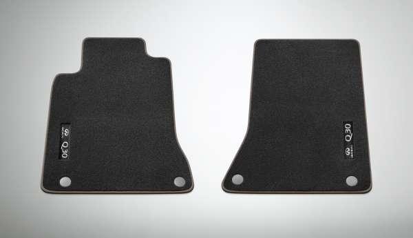 Textilfußmatten GT schwarz-braun Infiniti Q30 01/2016-