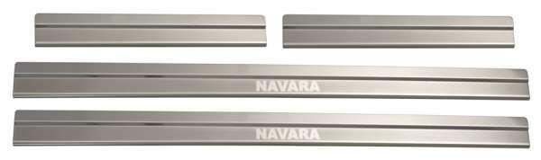 Einstiegsleistenset 4-tlg. Edelstahl Nissan Navara