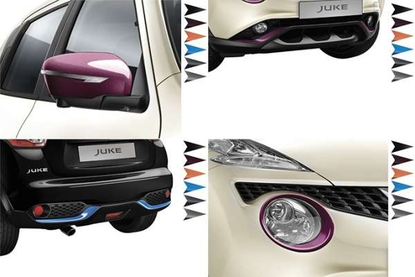 Exterieur Paket London White Nissan Juke F15 2014/05-