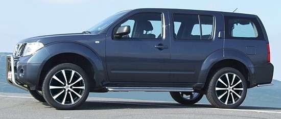 """20"""" Shadow Line, schwarz matt/poliert Nissan Pathfinder R51"""