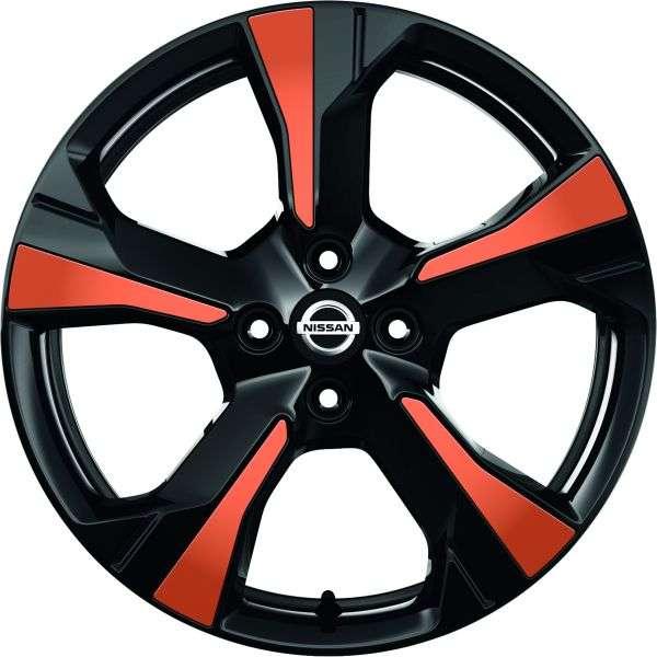 Einsätze für Felge Energy Orange Nissan Micra K14